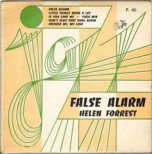 """HELEN FORREST """"FALSE ALARM"""" POP VOCAL JAZZ 50'S EP GUILDE DU JAZZ 40"""