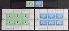 NEW ZEALAND 1968 OLYMPICS, Cpl XF MNH** Sheets + Set, Swimming, Running, Sports