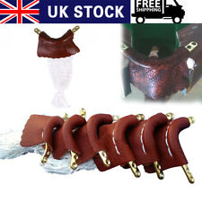 6pcs Leather Snooker Table Pockets Set Billiard Pool Replacement Ball Net Bags