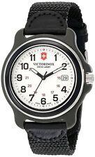 NWT 249086 Victorinox Swiss Army Original  White Black Nylon Strap Men's Watch