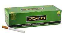2x Boxes ( ZEN Green Menthol King Size ) Cigarette Tube RYO - 200 Tubes Per Box