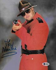 The Mountie Jacques Rougeau Signed 8x10 Photo BAS Beckett COA WWE Picture Auto 1