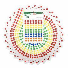700 Sticky Coloured Dots 8mm Labels Round Circles Self Adhesive Assorted Colours