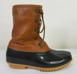 Sporto The Original Duck Boot Brown Black Women's 6M Arianna Boots Shoes