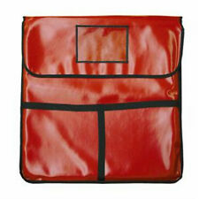 """THUNDER GROUP PIZZA DELIVERY BAG RED INSULATED 24"""" X 24"""" X 5"""" - PLPB024"""