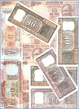 10 Rupees Complete Signature Set Small Notes(D-9 To D-123)@ Unc Condition