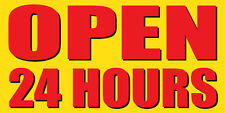 OPEN 24 HOURS Sign Banner Auto Repair Ad 2'x4' Automotive Service Tire Store