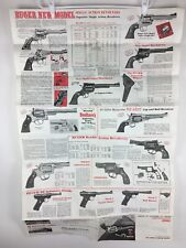1980 Ruger Poster Catalog Dealer Store Display Double Action Revolvers