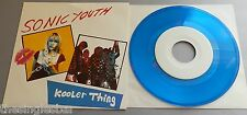 """Sonic Youth - Kooler Thing 1990 Dead Ethic Records Blue Vinyl 7"""" Single"""