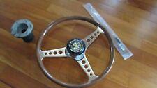 "16 "" Jaguar E Type XKE 1961-1975 orig Walsall Wood Steering Wheel horn UK Vintge"