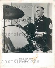 1946 Battery Drum Section of US Marine Band Press Photo