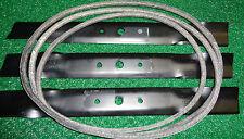 """3 Blades & 1 Deck Belt 48"""" Deck John Deere L120 L130 Lawn Mowers GX20250 GX20305"""