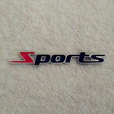 Sports Word Letter 3D Metal Car Sticker Emblem Badge Decal Auto Decor Chrome
