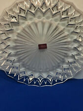 """Cristal d'Arques Cathedral 13 1/2"""" Round Platter Crystal France with Label"""