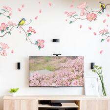 Birds on flowers Wall Sticker TV/Sofa Background Door/Home Decor DIY Removable