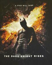 Rare BATMAN Men's Sz Large 'The Dark Knight Rises' Movie Promo T-Shirt Fire EUC