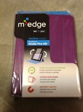 NEW sealed M-Edge Profile Slim Case For Kindle Fire HD Cover Purple AF2INMFP