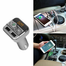 Inalámbrico Bluetooth Transmisor FM Radio Kit de coche MP3 reproductor de música y 2 Cargador Usb