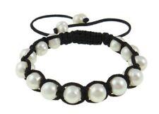Baroque White Freshwater Pearl Bracelet Inspired by Shambhala Jewelry 9-10mm J54