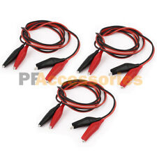 "6 Pcs 20"" inch Double Ended Alligator Clips Test Lead Jumper Wire (Red / Black)"