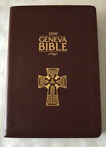 1599 Geneva Bible, Tolle Lege Press, Burgundy Genuine Leather