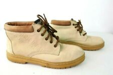 Rare Vintage 90s Women's BUM equipment Tan Suede Shoes Sz 10 Boots Hiking Ankle