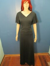 Size 18 black FLUTTER SLEEVE FORMAL dress by FORMAL FASHIONS
