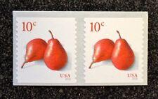 2016USA  #5039  10c  Pears  Coil  Pair  Mint  NH    pear