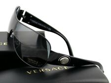 cd8530646d1b RARE New VERSACE Rock Icons Shield Wrap Black Medusa Sunglasses VE 2101  1009 87