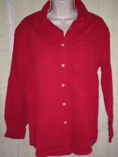 EDDIE BAUER RED CORDUROY SHIRT -  Size S/P