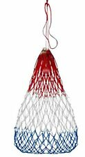 """Red White & Blue Slow Feed Hay Net Bag Barn Stall Trailer Horse Show 22""""W x 36""""H"""