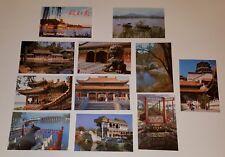 10 UNUSED Beijing China Postcards Lot  Summer Palace Lakes Boat Garden Souvenir