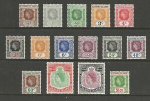 Leeward Islands QEII 1954 full set mint cat £60