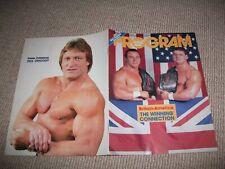 WWF wrestling programme (1980s, Dynamite Kid, Davey Boy Smith, WWE)