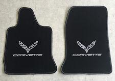 Autoteppich Fußmatten für Chevrolet Corvette C7 Coupe ab2014 silber Nubuk Velour
