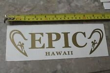 New listing Epic Hawaii Surfboard Vintage Surfing Decal Sticker