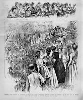GENERAL ROBERT E. LEE STATUE CHEERING CROWD IN RICHMOND VIRGINIA HORSES WAGON