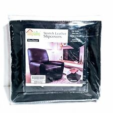 Easy-Going Microfiber Stretch Recliner Slipcover – Spandex Soft Fitted Black