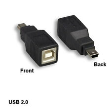 Kentek USB 2.0 Mini B 5 Pin Male to B Female Connector Camera PDA MP3 MP4 HDD PC
