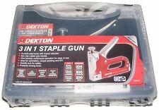 DEKTON QUALITY METAL STAPLE GUN WITH 600 STAPLES IN A HANDY PLASTIC CARRY CASE