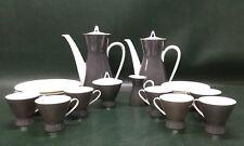 27 Pcs  Rosenthal Studio Linie Secunda Grey 2000 Tea Coffee Set w/ Plates