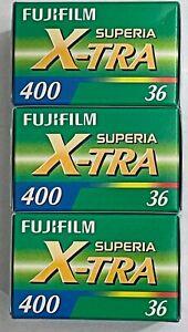 FUJIFILM SUPERIA  X-tra 400  36 Aufnahmen  3 FILME  MHD/expiry date 05/2023