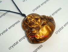 Feng Shui - Tiger Eye Laughing Buddha Necklace (Good Fortune)