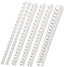 40 Binderücken weiß, Set mit 32 - 38 - 45 - 51 mm, Plastikbinderücken Kombipaket