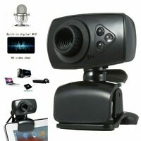 Full HD 50MP Clip-on Webcam USB 3 LED Video Camera with Microphone for PC Laptop