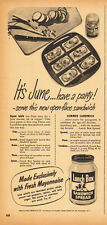 1949 vintage AD, LUNCH BOX Sandwich Spread 081214