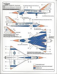 Warbird What If The USAF Thunderbirds Flew F-106 Delta Dart Decals 1/48 023