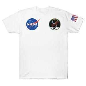 Apollo 11 Movie 50 Years Anniversary NASA Space Suit Logo T-Shirt