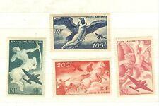 timbres France poste aérienne N°16 à 19 ** NEUF SANS CHARNIERES