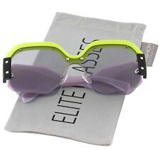 Large Oversized Semi Rimless Sunglasses For Women Trendy Candy Color Designer